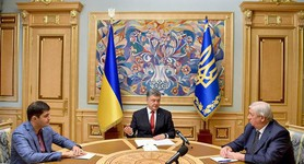 "Poroshenko met with Shokin and Sakvarelidze: ""Prosecutors-grafters case will be brought to an end"". PHOTO"