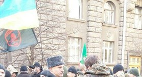 ATO fighters rally outside Presidential Administration, demand Ilovaisk case taken to court. PHOTOS