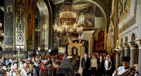 President Poroshenko attended vespers in cathedrals of three Eastern Christian denominations in Kyiv. PHOTOS