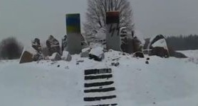 Vandals desecrate monument to Poles killed by Nazis in Lviv region. VIDEO
