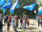 Kids were Made to Hold the Regions Flags During a Meeting with a Candidate in Lugansk. PHOTO