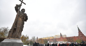 Monument to Prince Volodymyr of Kyiv unveiled in Moscow. PHOTOS