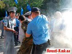 Language Battle at the Nikolayev City Council - Smoke Bombs and Arrests. PHOTO
