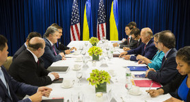 U.S. ready to allocate $1B in loan guarantees, - Vice President Biden at meeting with Poroshenko. PHOTO