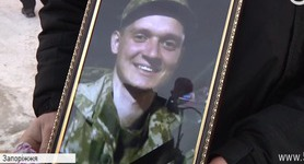 Zaporizhia bids farewell to 46th Battalion soldier Viacheslav Tsynkush killed near Marinka. VIDEO