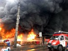 Human body discovered at burning thrift market in Kyiv. PHOTOS
