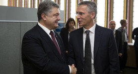 NATO supports Ukraine`s stance on Russia sanctions extension until Minsk fulfilled in full, - Stoltenberg to Poroshenko. PHOTOS