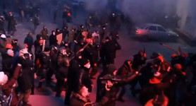 Historical clashes between Berkut and protesters in Hrushevskoho Street. VIDEO