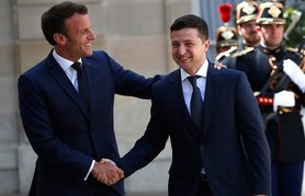 Macron confirms intention to hold Normandy-format meeting in near future in phone call with Zelenskyi